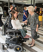 Prinses Beatrix tijdens het symposium Muscles2Meet. Het evenement is een initiatief van het Prinses Beatrix Spierfonds.<br /> <br /> Princess Beatrix during the Muscles2Meet symposium. The event is an initiative of the Princess Beatrix Muscle Fund.