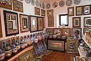 Interior of craft gift shop, village of Arcos de la Frontera, Cadiz province, Spain