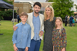 Conrad Shawcross and Carolina Mazzolari and children Riccardo and Sofia at the Dulwich Picture Gallery's inaugural Summer Party, Dulwich Picture Gallery, College Road, London England. 13 June 2017.