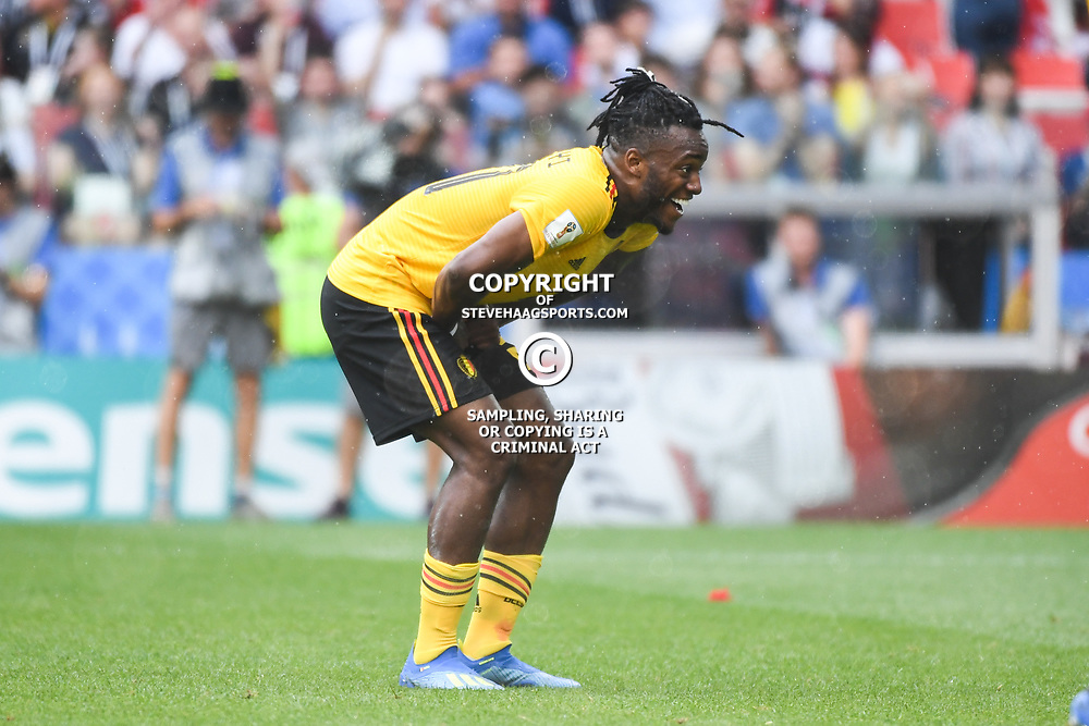Michy Batshuayi of Belgium reacts during the FIFA World Cup Group G match between Belgium and Tunisia at Spartak Stadium on June 23, 2018 in Moscow, Russia. (Photo by Anthony Dibon/Icon Sport)