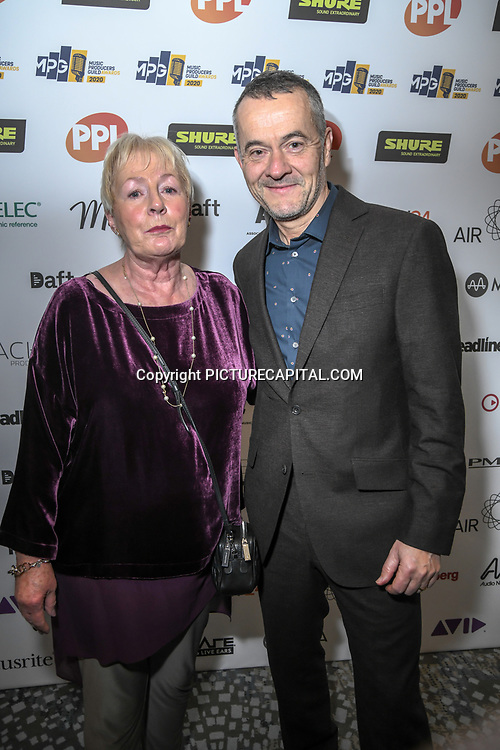 Stephen Street and his sponsor The Music Producers Guild Awards at Grosvenor House, Park Lane, on 27th February 2020, London, UK.
