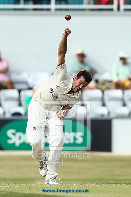 Clint McKay of Leicestershire in delivery stride during the Specsavers County C'ship Div Two match at the County Ground, Northampton<br /> Picture by Andy Kearns/Focus Images Ltd 0781 864 4264<br /> 14/08/2016