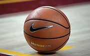 Dec 19, 2017; Los Angeles, CA, USA; General overall view of a Nike basketball on the court during an NCAA basketball game between the Princeton Tigers and the Southern California Trojans at Galen Center. Princeton defeated USC 103-93 in overtime.