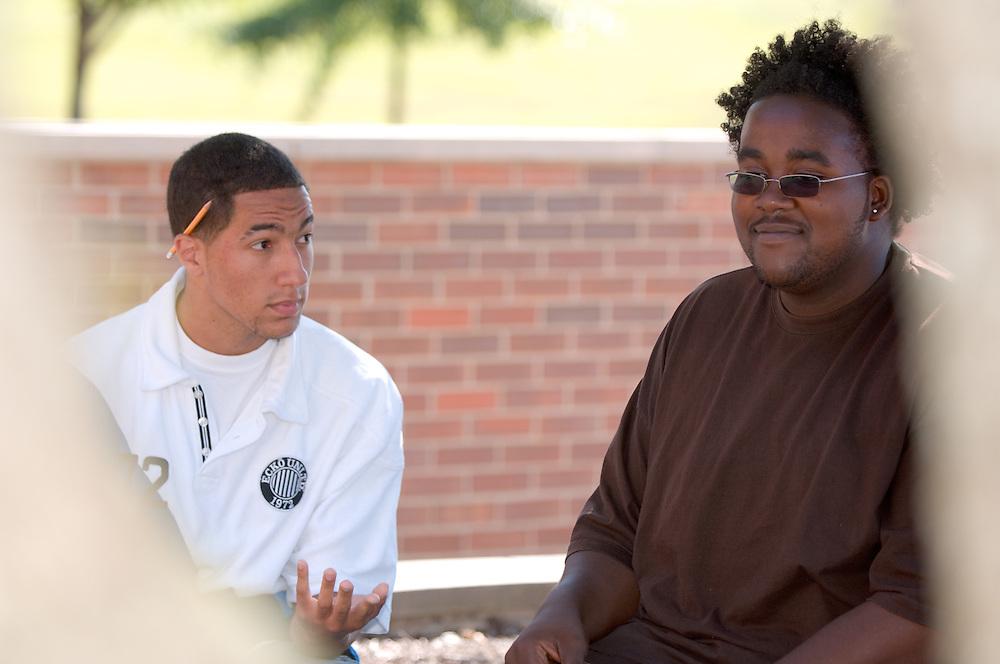 18322OU Chillicothe Campus ... Kyle Lester(white shirt) & Chris Carter (right)