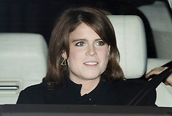 © Licensed to London News Pictures. 20/12/2017. London, UK. Princess Eugenie leaves Buckingham Palace after attending the Queen's annual Christmas lunch. Photo credit: Peter Macdiarmid/LNP