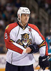 March 13, 2010; San Jose, CA, USA; Florida Panthers center Stephen Weiss (9) during the second period against the San Jose Sharks at HP Pavilion. Florida defeated San Jose 3-2 in overtime. Mandatory Credit: Jason O. Watson / US PRESSWIRE