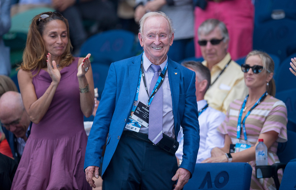 Rod Laver on day nine of the 2018 Australian Open in Melbourne Australia on Wednesday January 24, 2018.<br /> (Ben Solomon/Tennis Australia)