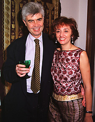 MR & MRS ANTHONY HAMBRO members of the banking family, at a party in London on 17th May 1999.MSC 25