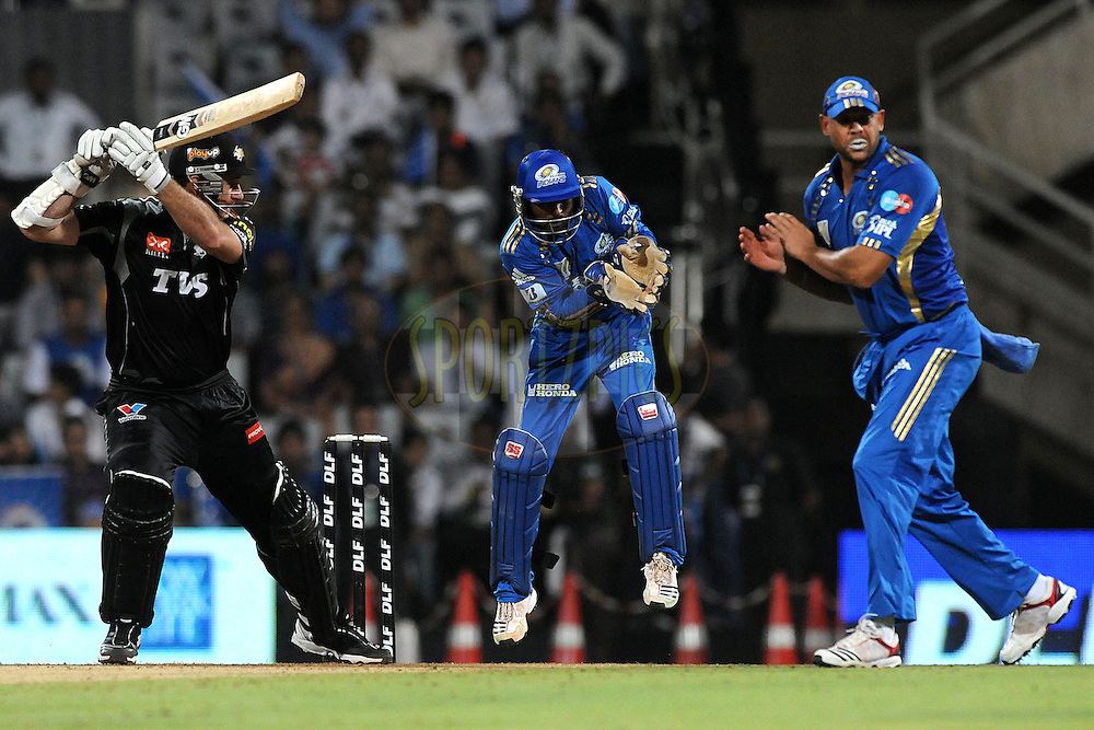Graeme Smith of Pune Warriors India bats during  match 44 of the Indian Premier League ( IPL ) Season 4 between the Pune Warriors India and the Mumbai Indians held at the Dr DY Patil Sports Academy, Mumbai India on 4th May 2011...Photo by Pal Pillai/BCCI/SPORTZPICS.