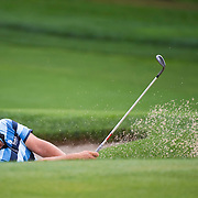 August 22, 2014: Ryan Moore (USA)  hits out of a sand trap on the 12th hole during the second round of The Barclays Fed Ex  Championship at Ridgewood Country Club in Paramus, NJ. Mandatory Credit:  Kostas Lymperopoulos/csm  (Credit Image: © Kostas Lymperopoulos/Cal Sport Media)