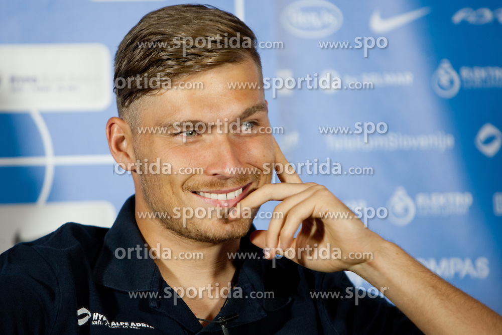 Vid Belec, goalkeeper for F.C. Internazionale Milano, at team gathering before friendly football match between National teams of Slovenia and Romania, on August 11, 2012 in Congress Center Brdo, Kranj, Slovenia. (Photo by Matic Klansek Velej / Sportida.com)