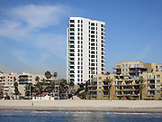 Photograph of the 17 story Ocean Club condominium complex taken on a Long Beach Harbor and Los Angeles Harbor boat cruise on March 2, 2013 in Long Beach, California. ©Paul Anthony Spinelli