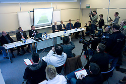 Tugo Frajman, candidate for the president of Slovenian football federation and his supporters at press conference,  on January 23, 2009, in Ljubljana, Slovenia.  (Photo by Vid Ponikvar / Sportida)