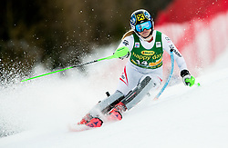 "Katharina Gallhuber (AUT) in action during 1st Run of the FIS Alpine Ski World Cup 2017/18 7th Ladies' Slalom race named ""Golden Fox 2018"", on January 7, 2018 in Podkoren, Kranjska Gora, Slovenia. Photo by Ziga Zupan / Sportida"