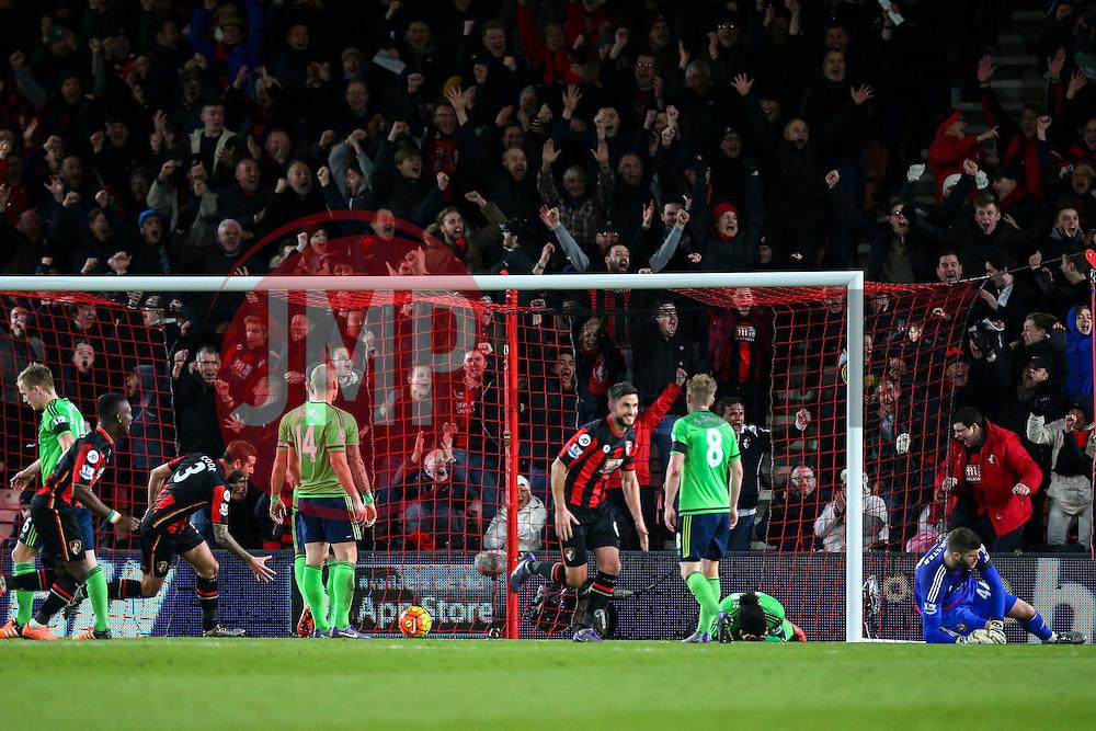 Goal, Benik Afobe of Bournemouth scores, Bournemouth 2-0 Southampton - Mandatory by-line: Jason Brown/JMP - Mobile 07966 386802 01/03/2016 - SPORT - FOOTBALL - Bournemouth, Vitality Stadium - AFC Bournemouth v Southampton - Barclays Premier League