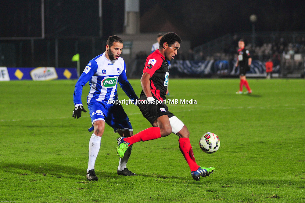 Georges Gope Fenepej / Redouane Settaout - 21.01.2015 - Boulogne / Grenoble - Coupe de France<br />