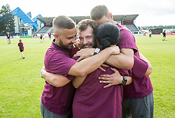 Staff of Triglav celebrate after winning during 2nd Leg football match between NK Triglav Kranj and NS Drava Ptuj in Qualifications of Prva Liga Telekom Slovenije 2018/19, on June 6, 2018 in Kranj, Slovenia. Photo by Vid Ponikvar / Sportida