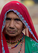 Woman from Chanoud, Rajasthan, India.