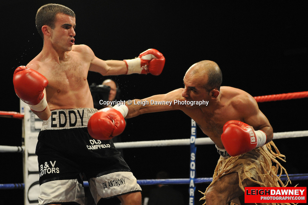 Paul Edwards defeats Anwar Alfadli at Huddersfield Leisure Centre on 28th May 2010. Frank Maloney Promotions. Photo credit: © Leigh Dawney