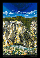 """Yellowstone Canyon 02"", Acrylic on Display Board, 24 x 36 inches."