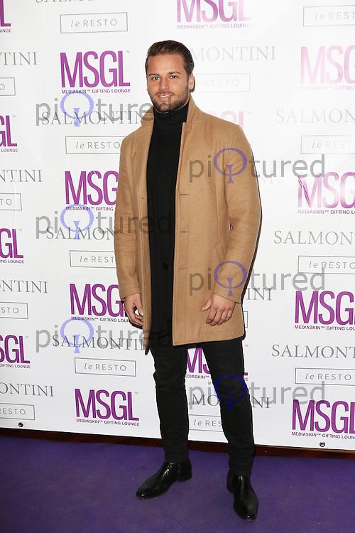 James Hill, MediaSkin Gifting Lounge, Salmontini Le Resto, London UK, 19 January 2015, Photo by Richard Goldschmidt