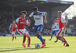 Jacob Mellis of Bury (C) in action - Mandatory by-line: Jack Phillips/JMP - 25/03/2017 - FOOTBALL - Gigg Lane - Bury, England - Bury v Fleetwood Town - Football League 1