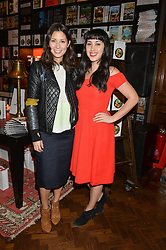 Left to right, JASMINE HEMSLEY and MELISSA HEMSLEY at the launch of new book 'Farfetch Curates: Food' at Maison Assouline, Piccadilly, London on 24th March 2015.