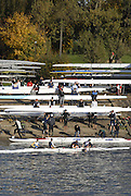 London, GREAT BRITAIN, Crews  Boating from TSS, boat house,  for the 2006 Fours Head of the River Race,  views from Chiswick Bridge, Chiswick, West London, on Sat.  18.11. 2006. [Photo, Peter Spurrier/Intersport-images]. Rowing Course: River Thames, Championship course, Putney to Mortlake 4.25 Miles