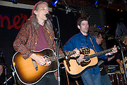 """Father and Son, Jimmie Dale Gilmore and Colin Gilmore at the benefit for Jesse """"Guitar"""" Taylor at Antone's in Austin Texas, April 10, 2008."""