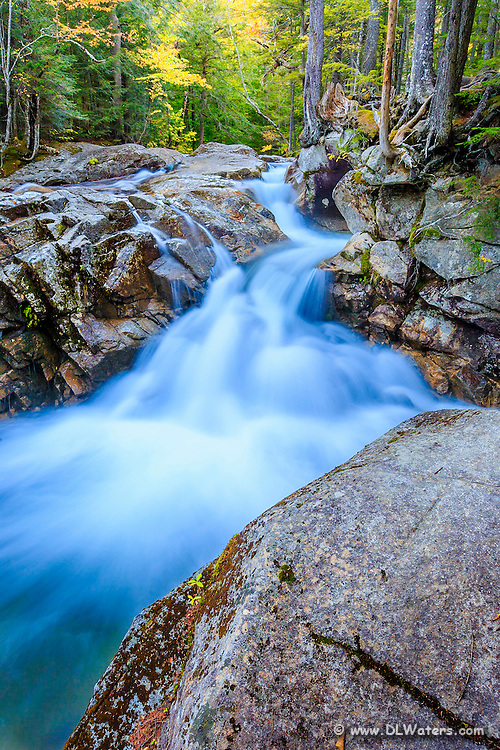 Pemigewasset River cascade in the White Mountains of NH.