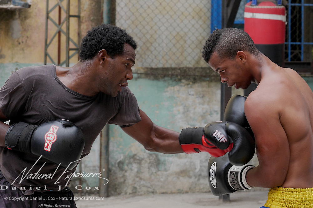 Scenes from the Rafael Trejo Boxing Gym, Havana, Cuba