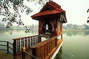 A spirit house by the Jong Kham Lake in Mae Hong Son, Thailand. April 2003.