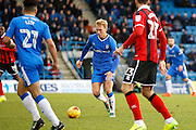 Gillingham FC midfielder Josh Wright (44) during the EFL Sky Bet League 1 match between Gillingham and Shrewsbury Town at the MEMS Priestfield Stadium, Gillingham, England on 28 January 2017. Photo by Andy Walter.
