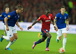 LILLE, FRANCE - Thursday, October 23, 2014: Lille OSC's Idrissa Gueye in action against Everton during the UEFA Europa League Group H match at Stade Pierre-Mauroy. (Pic by David Rawcliffe/Propaganda)