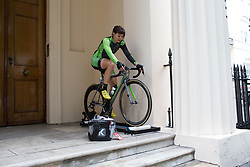 Sheyla Gutierrez Ruiz (ESP) of Cylance Pro Cycling warms up for the Prudential Ride London Classique - a 66 km road race, starting and finishing in London on July 29, 2017, in London, United Kingdom. (Photo by Balint Hamvas/Velofocus.com)