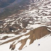Arnar Þór Emilsson skiing mt.1124m. in Flateyjardalur, Iceland.
