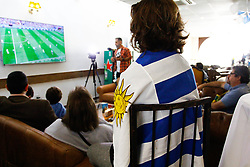 July 6, 2018 - SãO Paulo, Brazil - SÃO PAULO, SP - 06.07.2018: TORCIDA URUGUAIA EM SÃO PAULO - In the photo, Uruguayan fans bemoan disqualification. A Uruguayan squad in São Paulo, they are following a match against France, who play for the quarter-finals in a typical Uruguayan restaurant El Tranvía, in the southern part of the city of São Paulo, on Friday ( 06) (Credit Image: © Aloisio Mauricio/Fotoarena via ZUMA Press)