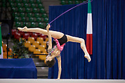 "Alessia Leone by team italia of rhythmic gymnastics  during the ""7th tournament city of Desio"", 09 March 2019."