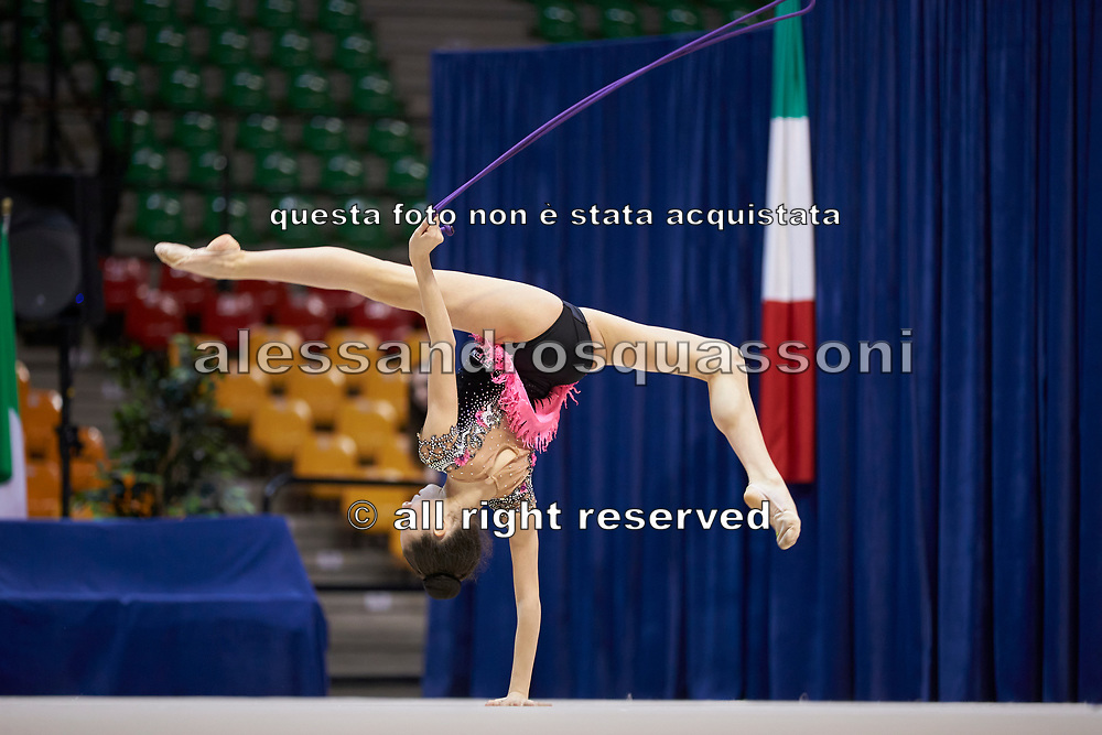 "Alessia Leone by team italia of rhythmic gymnastics  during the ""7th tournament city of Desio"", 09 March 2019."