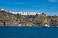 Fira (Thira) on Santorini, Cyclades Islands, Greece.