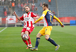 03.04.2019, Merkur Arena, Graz, AUT, OeFB Uniqa Cup, GAK vs Red Bull Salzburg, Halbfinale, im Bild Peter Kozissnik (GAK) und Andreas Ulmer (FC Red Bull Salzburg) // during the halffinal match of the ÖFB Uniqa Cup between GAK and Red Bull Salzburg at the Merkur Arena in Graz, Austria on 2019/04/03. EXPA Pictures © 2019, PhotoCredit: EXPA/ Erwin Scheriau