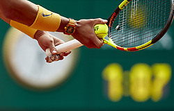 May 9, 2018 - Madrid, Madrid, Spain - Detail of the watch of Rafael Nadal of Spain during his match against Gael Monfils of France during day five of the Mutua Madrid Open tennis tournament at the Caja Magica on May 9, 2018 in Madrid, Spain  (Credit Image: © David Aliaga/NurPhoto via ZUMA Press)