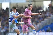 Jimmy McNulty wins the ball during the EFL Sky Bet League 1 match between Bristol Rovers and Rochdale at the Memorial Stadium, Bristol, England on 22 April 2019.