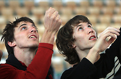 Climbers Klemen Becan (SLO) and Jure Becan (SLO)  at World cup competition in Zlato polje, Kranj, Slovenia, on November 15, 2008.  (Photo by Vid Ponikvar / Sportida)