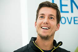 Aljaz Bedene during press conference of Slovenian Men Davis Cup team before tournament against Poland, on January 30, 2018 in Hotel Maribor, Maribor, Slovenia. Photo by Vid Ponikvar / Sportida