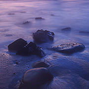 Low Tide Shoreline - Dusk - Pfeiffer State Beach - Big Sur, CA