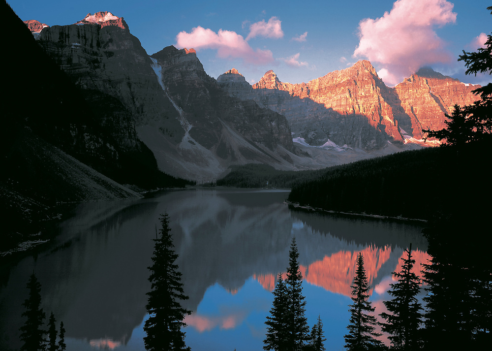 Canada. Banff and Lake Moraine.