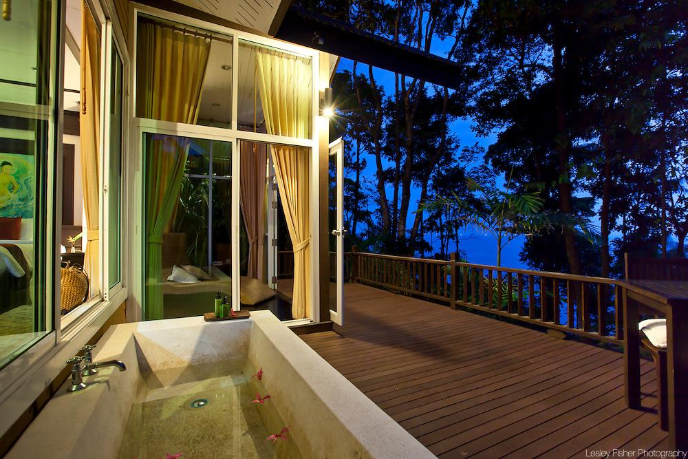 Ocean view villa terrace, Dara Drug and Alcohol Rehabilitation Centre, Koh Chang, Trat, Thailand