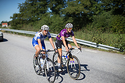 Lucinda Brand (NED) of Rabo-Liv Cycling Team coasts at the back  during the neutralisation during the 117,5 km third stage of the 2016 Ladies' Tour of Norway women's road cycling race on August 13, 2016 between Svinesund, Sweden and Halden, Norway. (Photo by Balint Hamvas/Velofocus)