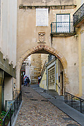 Arco de Almedina. The gateway to the ancient walled city, Coimbra, Portugal